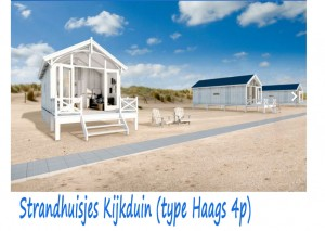 Strandhuisjes Kijkduin type Haags 4p