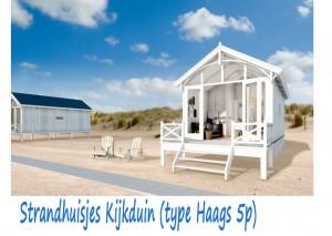 Strandhuisjes Kijkduin type Haags 5p